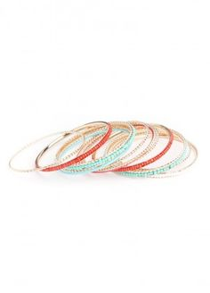 Beaded Bangle Bracelets $18.00