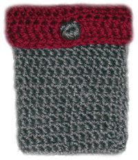 Crocheted camera case.  Gonna make something similar for me new camera... :)