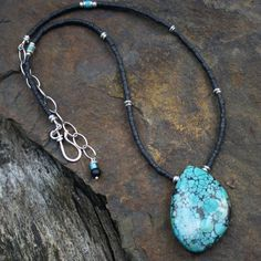 Turquoise and black jade necklace £38.00