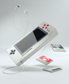This Game Boy concept from German designer Florian Renner is sleek and beautiful. It re-imagines the classic handheld Game Boy for the modern world. It's called the game boy I like it. Hell, I wish I could buy it. I hope Nintendo is paying attention. Game Boy, Super Nintendo, Nintendo Games, Gameboy Games, Nintendo Consoles, Electronics Projects, Yoshi, Wii, Nintendo World