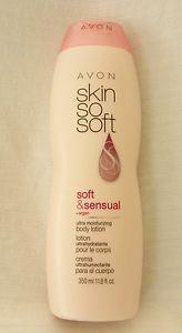 New AVON Skin So Soft Soft and Sensual Body Lotion 11.8 fl. oz. Factory Sealed