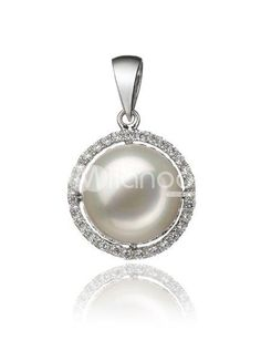 14K Gold Chain AAA 11-12mm White Round Freshwater Pearl Pendant For Ladies. See More Pearl Pendants at http://www.ourgreatshop.com/Pearl-Pendants-C896.aspx