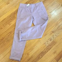 New Loft cargo style pants size 2 Brand-new cargo style pants from The Loft. Light weight material, very comfortable. 80% cotton and 20% linen. The pants are a very light lavender color. Would look great with ankle boots and an oversized sweater! LOFT Pants