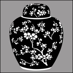Chinese Style stencils from The Stencil Library. Buy from our range of Chinese Style stencils online. Page 4 of our Chinese Style blueandwhite stencil catalogue. Stencils Online, Surreal Artwork, Blue Pottery, Mandala Dots, Flower Template, China Painting, Pottery Designs, Ginger Jars, Stencil Designs