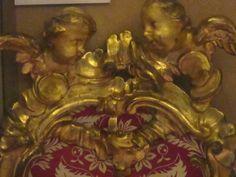 06 Nice, palais Lascaris, détail du dossier du siège 17°s