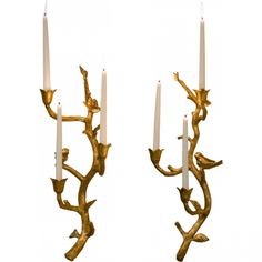 Antique Gold Iron Branch