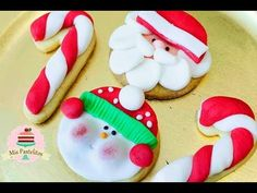 ¡HORNEA Y DECORA GALLETAS NAVIDEÑAS! ♥ - YouTube