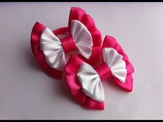 Бант  канзаши.  Бант из атласных лент Канзаши. // Bow of satin ribbons kanzashi - YouTube