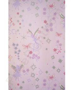 Fairies Pink Wallpaper 10m