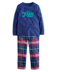 "#Joules ""Chantry Pyjama"" - € 34,60 - Wikimo Kindermode, Kinder Schlafanzug, navy check by Tom Joule   wikimo.eu"