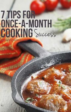 Fill your freezer fast with these 7 timesaving tips for once a month cooking success. Sure freezer meals can make dinner time a breeze, just throw it in the crockpot and out comes a healthy meal, right? Well, these tips will make your actual once-a-month Gourmet Cooking, Batch Cooking, Freezer Cooking, Freezer Meals, Healthy Cooking, Cooking Tips, Healthy Recipes, Clean Eating Food List, Clean Eating Recipes