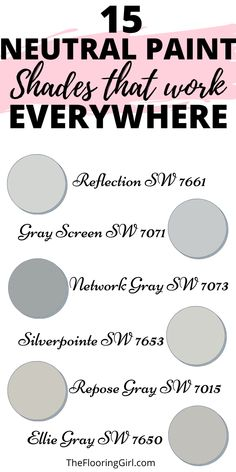 Designer picks for neutral paint colors - from stylish grays to greiges, beiges and taupes. Who said neutral paint colors are boring or bland? They're not, and and they're super stylish. The trick to neutral paint colors is finding the right one. Check out my top picks for the 5 neutral paint families. Neutral Paint Colors, Wall Paint Colors, Gray Paint, Neutral Colour Palette, Color Palettes, Gray Color, Painting Tricks, Diy Painting, Color Combos