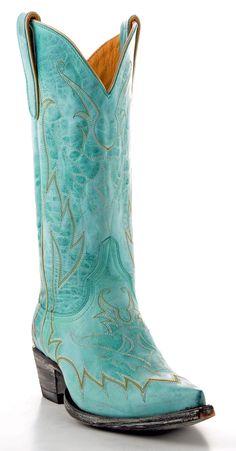 Womens Yippee Ki Yay Diabolina Boots Turquoise #Yl028-1