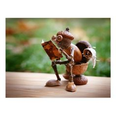Most popular acorn elf postcard Zazzle com is part of Acorn crafts - Most popular acorn elf postcard with acorn elf sitting on the toilet and reading newspapers Creative Crafts, Diy And Crafts, Craft Projects, Crafts For Kids, Projects To Try, Arts And Crafts, Kids Diy, Handmade Crafts, Fall Crafts For Adults