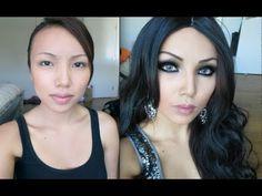 Make-up Transfomation into Haifa Wehbe(Arabian Make-up )-  this girl has great makeup tutorials.
