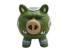 Gamorrean Guard Ceramic Piggy Bank : When he's not guarding Jabba's palace, this little piggy will keep an eye on your wapuipi, truguts, peggats and dimes.
