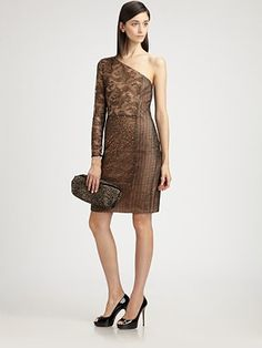 One-shoulder lace evening dress... if it wasn't $3990, I would probably buy it..