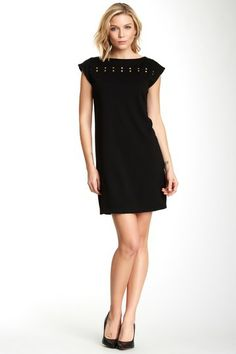 Studded Ponte Dress by Isaac Mizrahi on @HauteLook