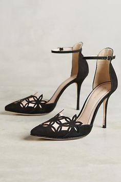 9bb460a05d74 Romea Ankle Strap Pumps - anthropologie.com Black Leather Shoes