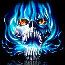 Image Result For Green Flaming Skull Wallpaper With Images