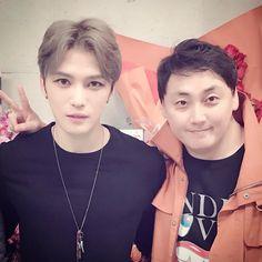 #D2 With #Jaejoong at backstage #SaitamaSuperArena  ( cr. toxxnim )