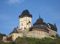 Castle Karlstejn in the Czech Republic Eslava, Royal Residence, Royal Palace, Czech Republic, The Good Place, Louvre, Mansions, House Styles, Building
