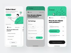 questionnaire investigation 1 by ZhaoWei for UIGREAT Studio on Dribbble Interaktives Design, App Ui Design, User Interface Design, Flat Design, Design Layouts, Dashboard Design, Icon Design, Design Trends, Logo Design