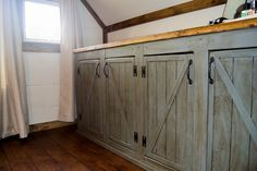 Scrapped the Sliding Barn Doors, Rustic Cabinet Doors Instead   Do It Yourself Home Projects from Ana White
