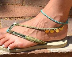 fff2f96f4d5aca Argent   or mariage décoré Flip Flop sandales plates Thong