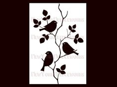 Birds Cross Stitch Birds Silhouette Cross by NewYorkNeedleworks
