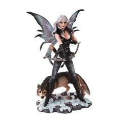 10 Inch Warrior Winged Fairy with Wolf and Bow Statue Figurine PTC http://www.amazon.com/dp/B00MLSLUX0/ref=cm_sw_r_pi_dp_elPywb0F8EFTD