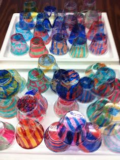 Alexis Anne: 5th Grade Dale Chihuly Installation. Color solo cups and partially melt in oven?