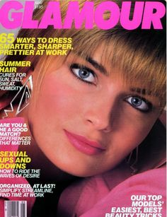 Paulina Porizkova covers Glamour Magazine ( United States ) May 1985
