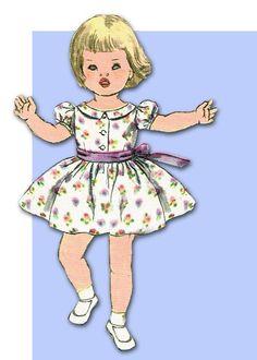 1960s Vintage Toddler Girls Dress Uncut 1960 Simplicity Sewing Pattern Size 6 #SimplicityPattern #DressPattern