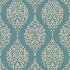 Home of Colour Damask Stripe Wallpaper - Teal