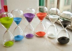 $7.59 / piece Colorful Sand Glass Hourglass Clock Timer 15 minutes Home Desk decor Xmas Birthday Gift-in Hourglasses from Home & Garden on Aliexpress.com | Alibaba Group