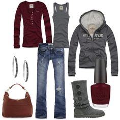 Except for the nail polish and the red T-shirt.. def my casual outfit!!!