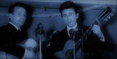 Les frères Venturini, Jean-Laurent et Jean Venturini, fils de Antoinette Giuliani née Biaggi, père et oncle de Serge Venturini,  dans les cabarets parisiens des années cinquante. Deux guitaristes et chanteurs corses à la carrière écourtée, malgré des talents certains. --- Afficher l'image d'origine.