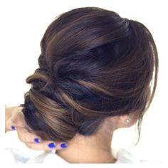 5-Minute Romantic Updo Tutorial ❤ liked on Polyvore featuring beauty products, haircare, hair styling tools, hair and hairstyles