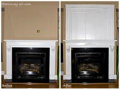 The Kim Six Fix: Board/Batten.  Ideas for Linda's fireplace
