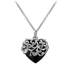 Hot Diamonds silver onyx love heart pendant - Product number 9413278