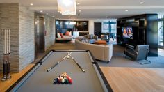 Best Paint Colors for a Man Room / Man Cave Bar Deco, Pool Table Room, Pool Tables, Modern Basement, Best Paint Colors, Paint Colours, Game Room Design, Man Cave Home Bar, Man Room