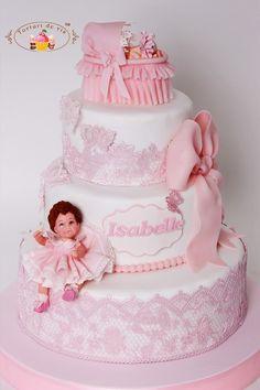 Torturi - Viorica's cakes: Tort botez Isabelle