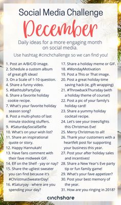 December Social Media Challenge - CinchShare Blog
