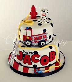 firetruck cake, maybe for next birthday...I LOVE this cake!