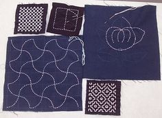 sashiko and other stitching: Denman Sashiko part 2