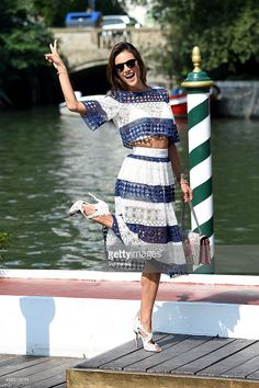 Alessandra Ambrosio is seen at the 72nd Venice Film Festival  in Venice, Italy (Photo by Venturelli) | #model #Venice #Italy #Streetstyle #croptop #fashion