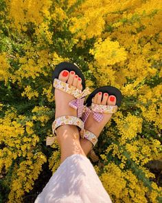 Fabric wrapped sandals #DIY