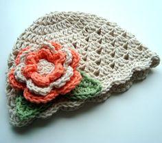 Crochet ragazza cappello cappello ragazza bambino di Karenisa
