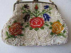 Vintage Beaded Evening Bag Small Germany Beaded by MyriadOfVintage